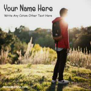 Write Name Sunset Alone Looking Boy Profile Pictures