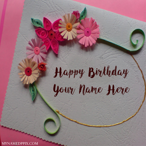 Write Sister Name Birthday Beautiful Wish Card Pictures