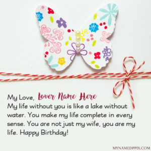 Write Wife Name Birthday Greeting Wish Card Pictures