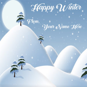Beautiful Snowfall Rain Winter Wishes Name Pictures Edit