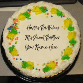 Brother Name Wishes Sweet Birthday Cake Profile Pictures