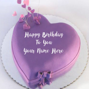 Custom Name Writing Heart Look Birthday Cake Wishes Pictures