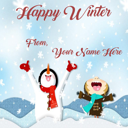 Print Name Amazing Happy Winter Wishes Image Send Whatsapp