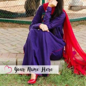 Print Name Nice Dress Beautiful Cute Girl Profile Photo Set