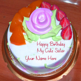 Sister Birthday Wishes Beautiful Name Cake Pictures Online