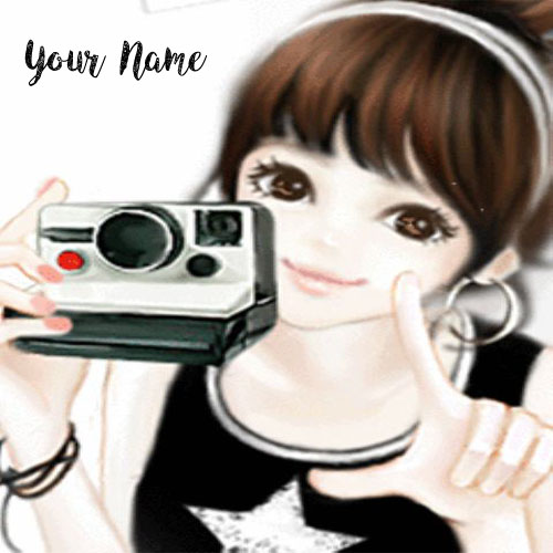 Smiley Camera Drawing Girl Name Profile Set Pictures