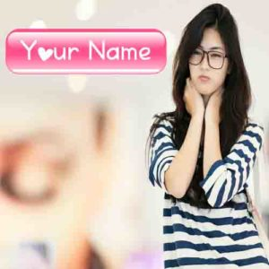 Write Name New Asian Sweet Girl Profile Pictures Create