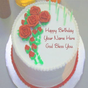 Birthday God Bless U Cake Name Wishes Profile Pictures
