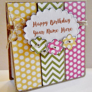 Custom Name Birthday Greeting Hand Made Card Wishes