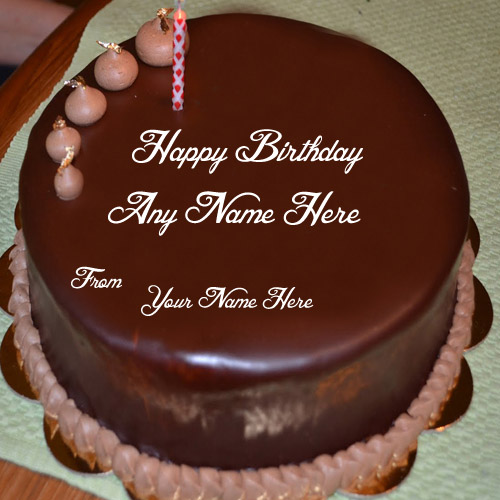 Write Name Wishes Chocolate Birthday Cake Pictures My Name DP