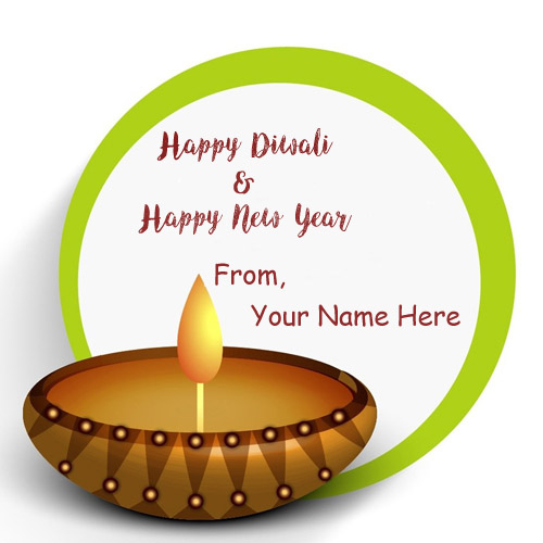 diwali and new year wishes name wish card editing