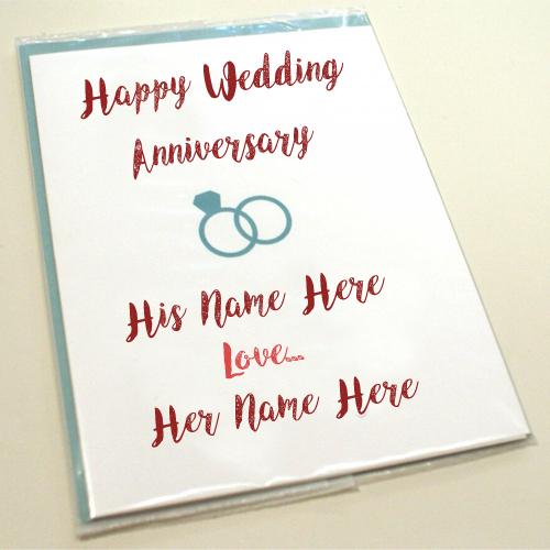 Happy Wedding Anniversary Names Greeting Card Pix