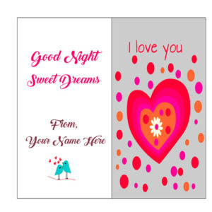 Lover Name Good Night Love U Wish Card Pictures