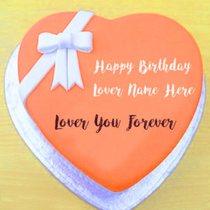 New Happy Birthday Heart Cake Name Wishes Profile Pictures