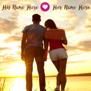 Online Profile Set Romantic Love Couple Name Image