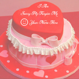 Sorry Plz Forgive Me Name Write Cake Pictures Online