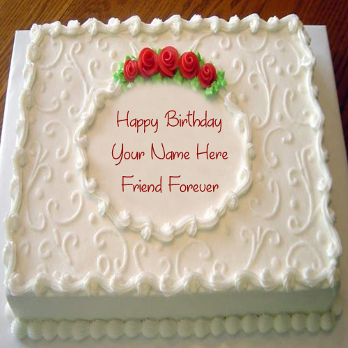 Images Of Birthday Cakes For Special Friend : Special Friend Name Birthday Wishes Cake Profile Pictures