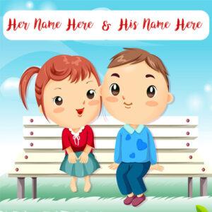 Write Lover Name Cute Couple Romantic Profile Picture
