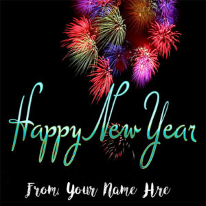 Amazing Firework New Year Wishes Name Image Edit