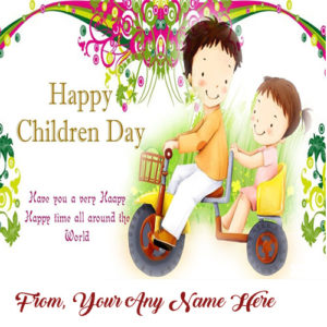 Children's Day Greeting Name Card Edit Online Image Free