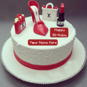 Fashion Birthday Cake Girlfriend Name Wishes Pictures
