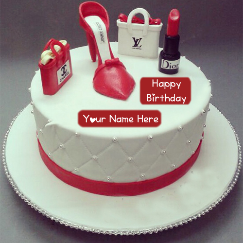 Fashion Birthday Cake Girlfriend Name Wishes Pictures My