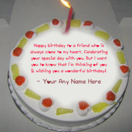 Greeting Birthday Candles Cake Name Wishes Image