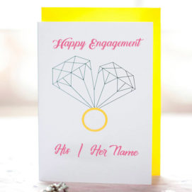 Happy Engagement Wishes Name Card Sent Online