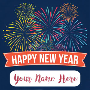 Happy New Year Name Wishes Celebration Card Sent