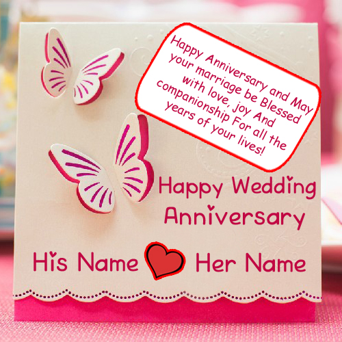 Unique Wedding Anniversary Card Names Wishes Profile Pics