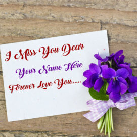 Write Name Miss U Greeting Love Forever Card Photo Edit