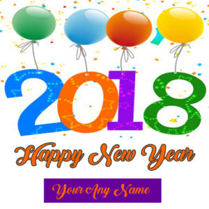 2018 New Year Celebration Greeting Card Name Wishes Sent Online