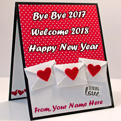 Write name on 2018 happy new year wishes card edit pictures my beautiful new year welcome 2018 greeting card name write m4hsunfo