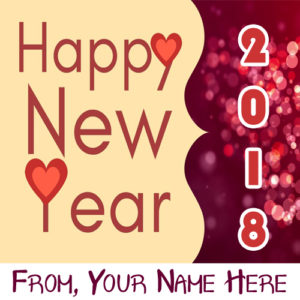 Best Name Write 2018 New Year Picture Sent Online Editor