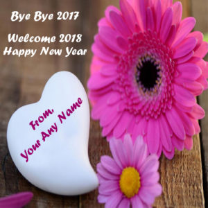 Bye Bye 2017 Love Greeting Card Name Write Image Sent