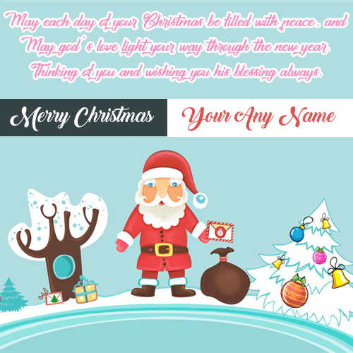 Christmas Wishes Santa Claus Quotes Wish Card Image