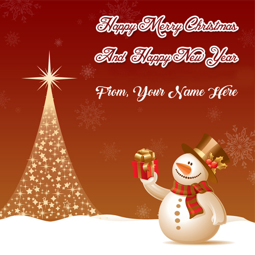 Merry Christmas Card Name Wishes Happy New Year Photo – My ...
