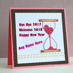 Time Watch New Year Welcome 2018 Name Picture Sent
