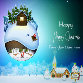 Write Name Happy Merry Christmas Day Wishes Pictures
