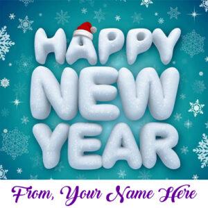 Write Name Happy New Year Wishes Whatsapp Sent Image