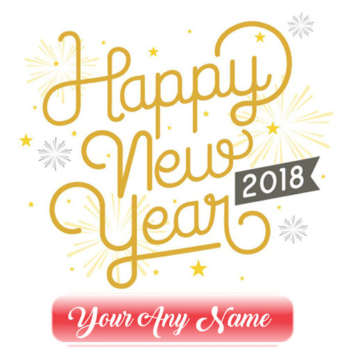 2018 Welcome Name Greeting Card Editing Online New Year Wishes