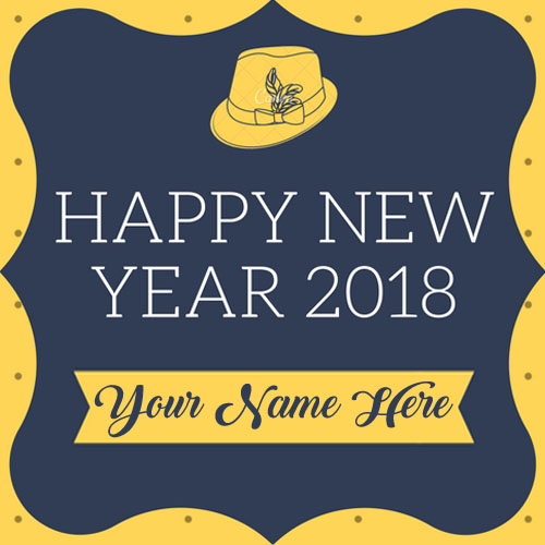 Write name on 2018 happy new year wishes card edit pictures my amazing new year 2018 greeting card special name wishes image m4hsunfo