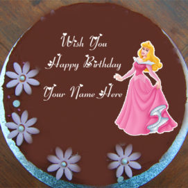 My Name Cute Doll Birthday Wishes Cake My Name DP Pictures