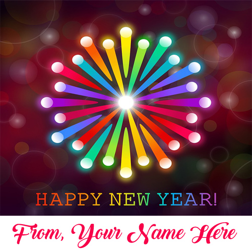 Beautiful new year greeting card name edit photo sent online m4hsunfo