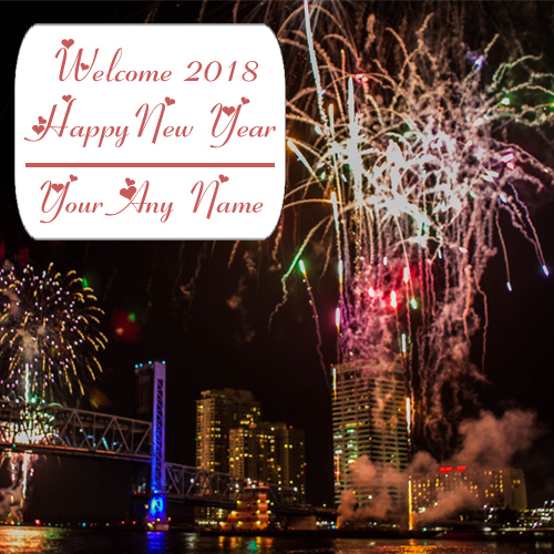Celebration New Year Firework Picture 2018 Name Edit Photo