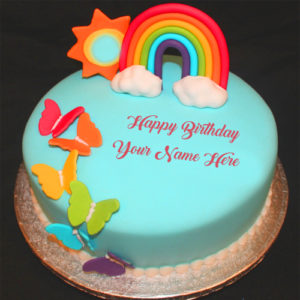 Colorful Birthday Cake Name Write Profile Pictures Edit Online