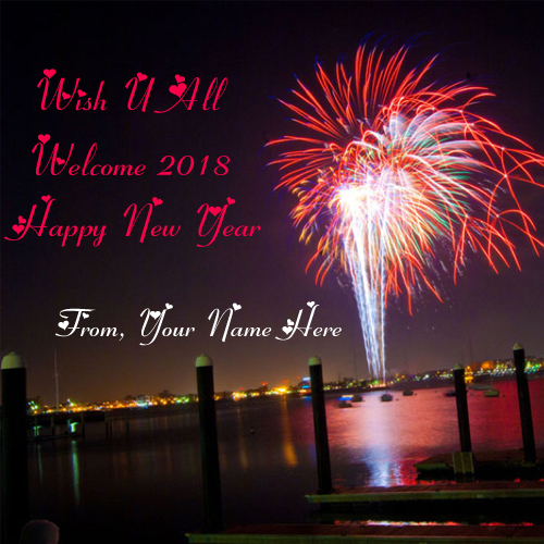Write name on 2018 happy new year wishes card edit pictures my eva new year celebration name greeting wishes card sent online m4hsunfo
