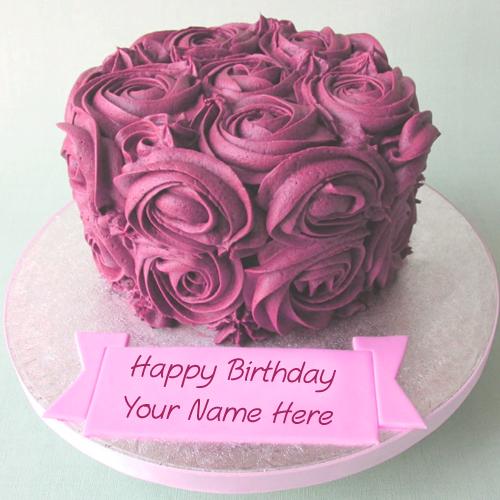 Happy Birthday Name Cake For Sister