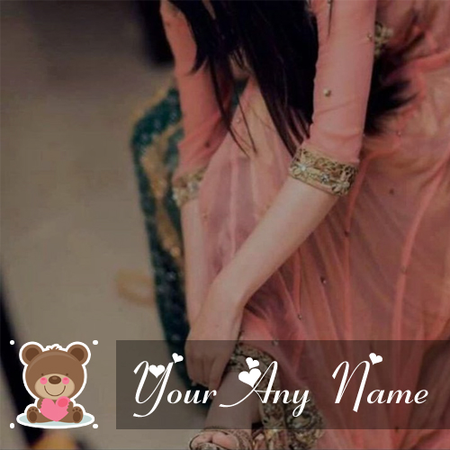Gorgeous Sweet Girl Custom Name Write Profile Image Edit