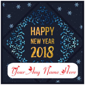 Happy New Year With Name Card Picture Online Edit Photos